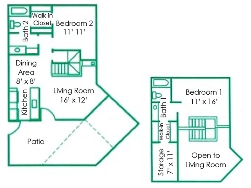 Floor Plans at Fiesta Park Apartments