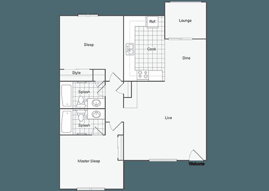 Floorplan for Seventeen 805 Apartments
