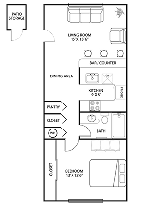 Floorplan for Newport Apartments