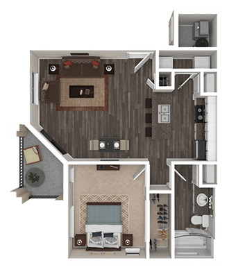 Floorplan for Town Center Apartments