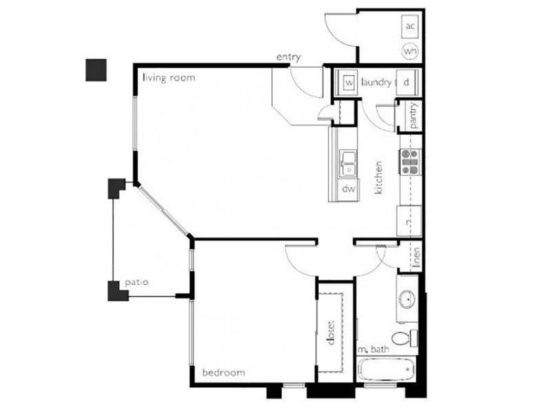 Floor Plans at Town Center Apartments