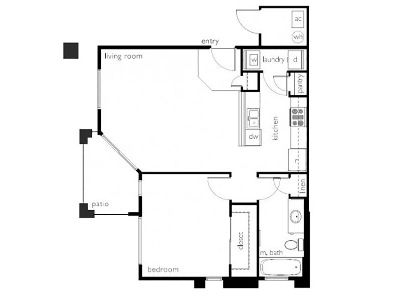 Our a1r2 is a 1 Bedroom, 1 Bathroom Apartment
