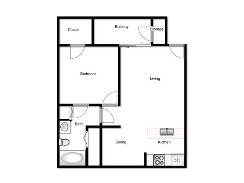 Our 1 Bed - 1 Bath Harmony is a 1 Bedroom, 1 Bathroom Apartment