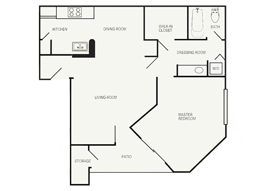 Floorplan for Val Vista Gardens Apartments