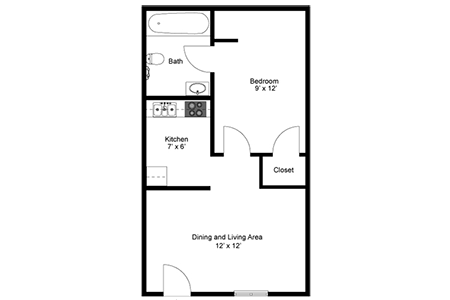 Floorplan for Sonoran Palms Apartments