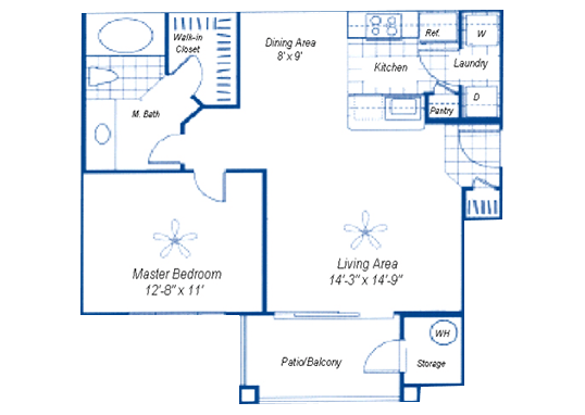 Floorplan for Rio Santa Fe Apartments