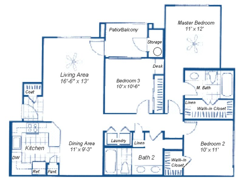 Floor Plans at Rio Santa Fe Apartments