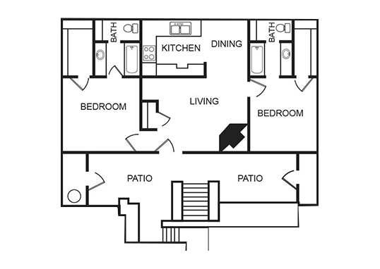 Floorplan for Aria on Mill Apartments