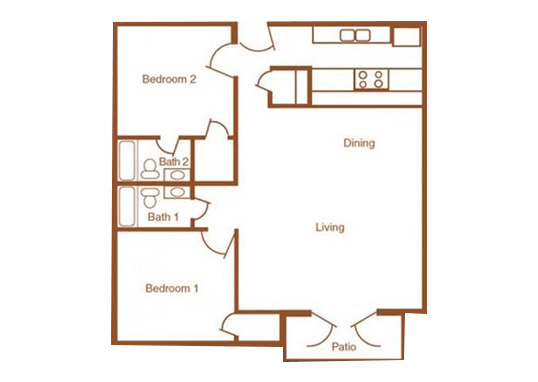 Floorplan for Avalon Apartments