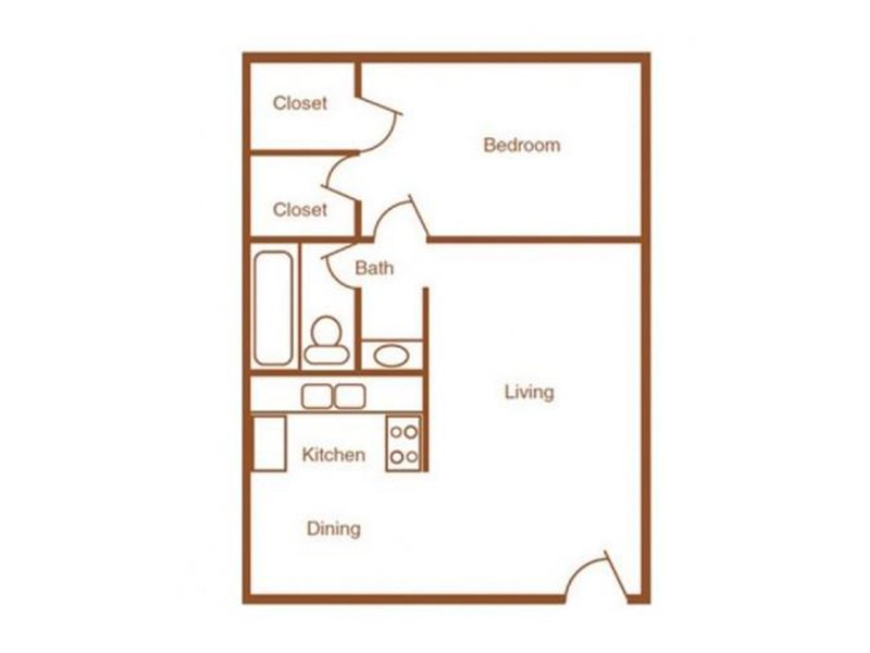 Our 1X1-750 is a 1 Bedroom, 1 Bathroom Apartment
