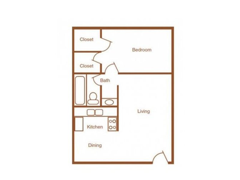 Our 1X1R-750 is a 1 Bedroom, 1 Bathroom Apartment