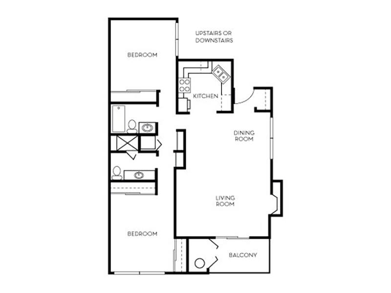 Our Catalina is a 2 Bedroom, 2 Bathroom Apartment
