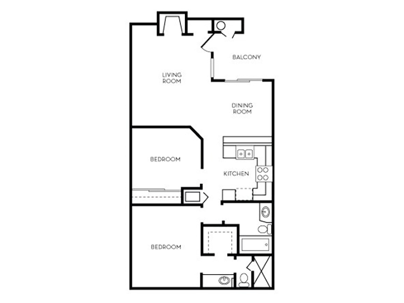 Our Meridian is a 2 Bedroom, 2 Bathroom Apartment