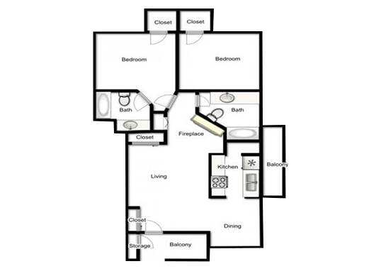 Floorplan for The Maddox Apartments