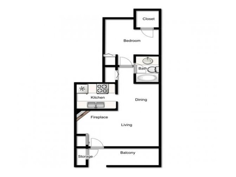 Our Admiral is a 1 Bedroom, 1 Bathroom Apartment