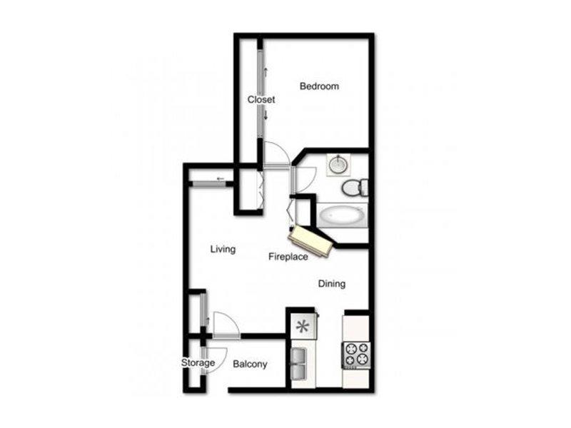 Our Berkley is a 1 Bedroom, 1 Bathroom Apartment