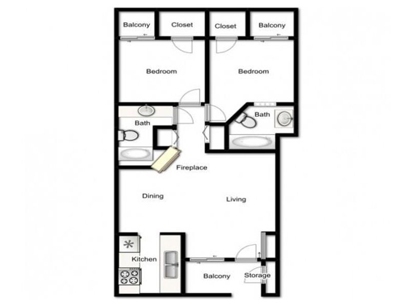 Our Oxford is a 2 Bedroom, 2 Bathroom Apartment