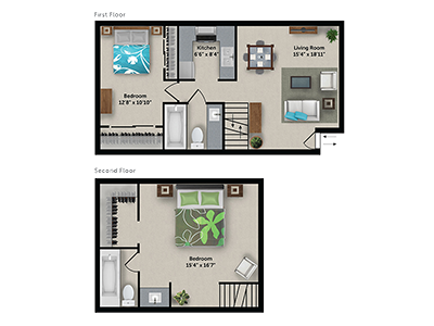 Floorplan for Bloom 24 Apartments