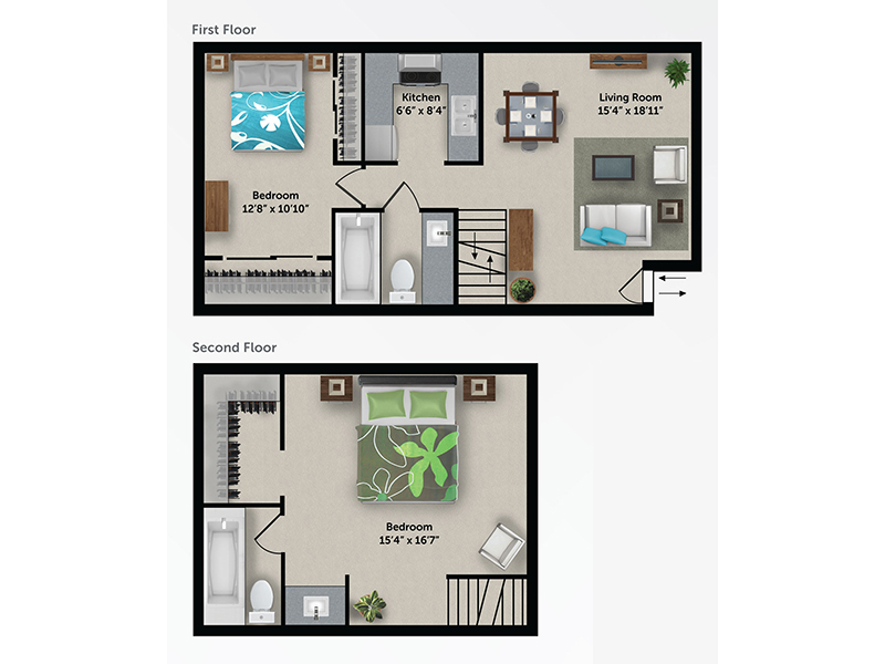 Floor Plans at Bloom 24 Apartments