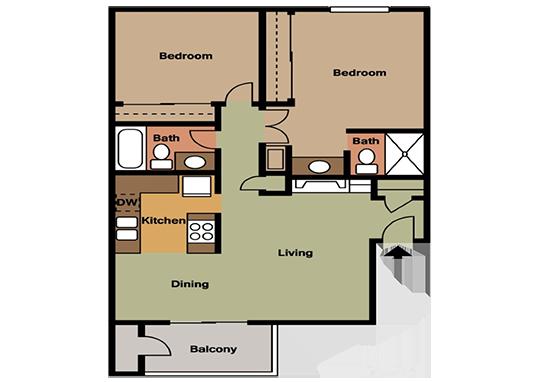 Floorplan for Park Paloma Apartments