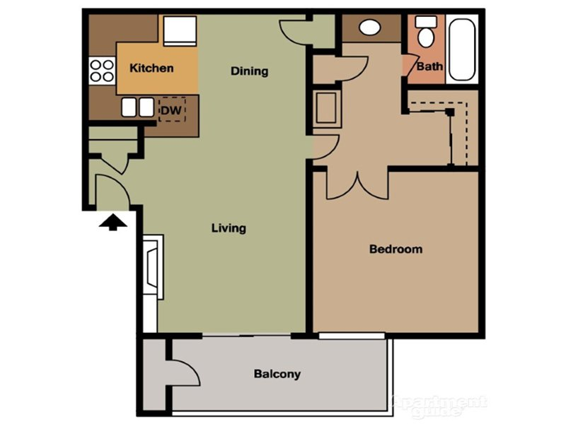 Our 1 Bedroom 1 Bathroom is a 1 Bedroom, 1 Bathroom Apartment