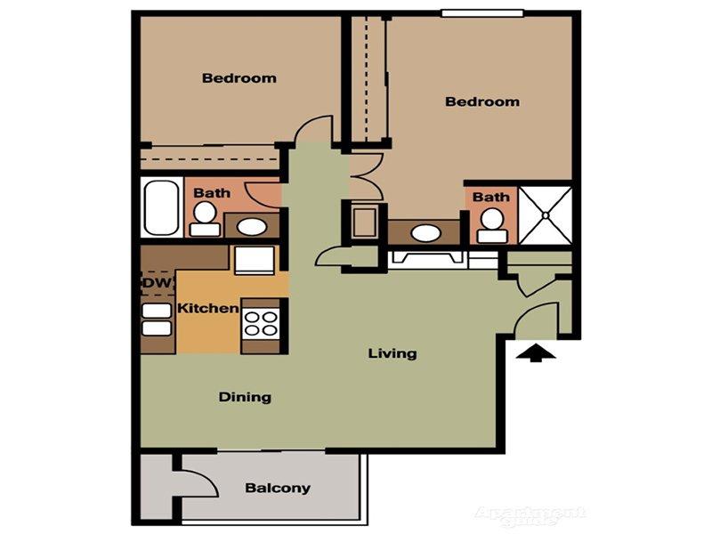 Our 2 Bedroom 2 Bathroom is a 2 Bedroom, 2 Bathroom Apartment
