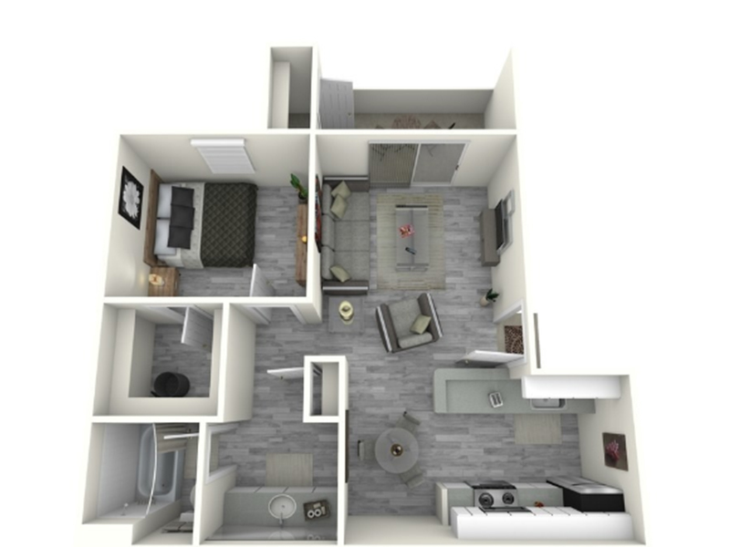 Our 1x1_700_C is a 1 Bedroom, 1 Bathroom Apartment