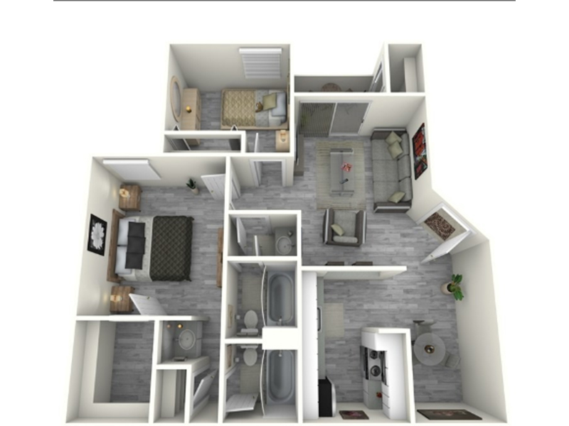 Our 2x2_930_R is a 2 Bedroom, 2 Bathroom Apartment