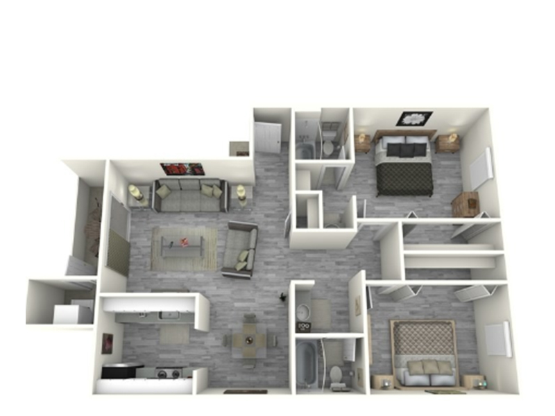 Our 2x2_960_C is a 2 Bedroom, 2 Bathroom Apartment