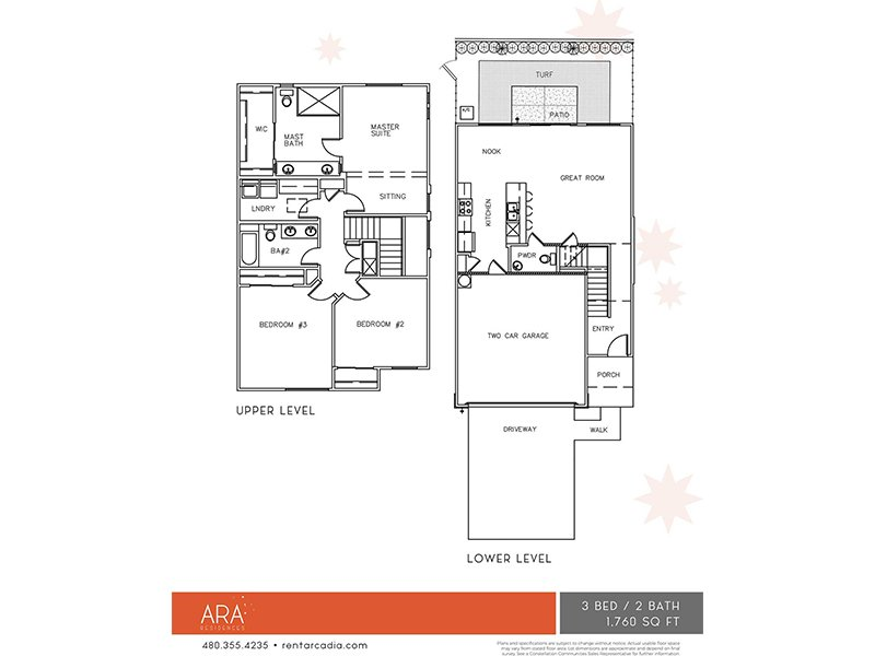 Our 3 Bedroom is a 3 Bedroom, 2.5 Bathroom Apartment