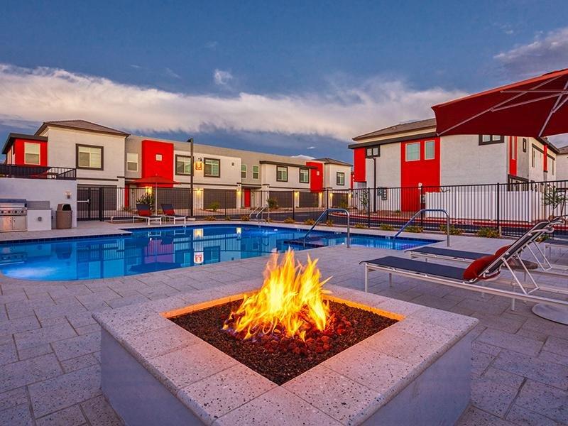 Poolside Firepit | Ara Residences in Phoenix, AZ