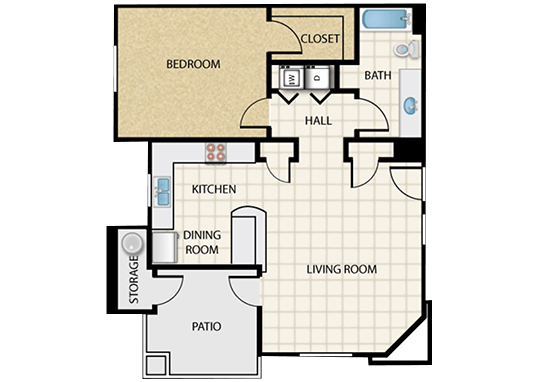 Floorplan for Legacy Apartments at Dove Mountain Apartments