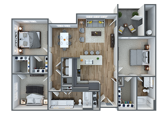 Floorplan for Parc South Mountain Apartments