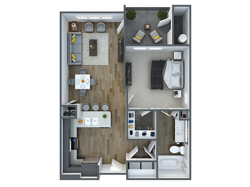 Our a10a is a 1 Bedroom, 1 Bathroom Apartment