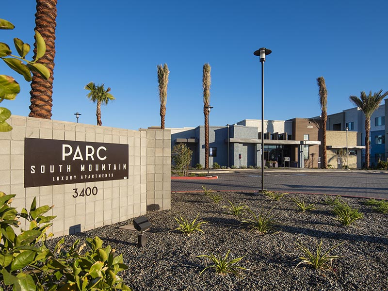 Welcome Sign | Parc at South Mountain