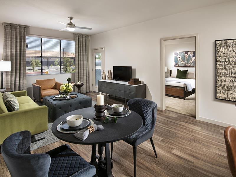 2 Bedroom Front Room | Parc at South Mountain