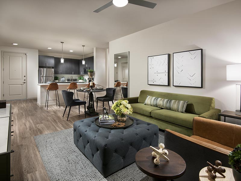 2 Bedroom Living Room | Parc at South Mountain