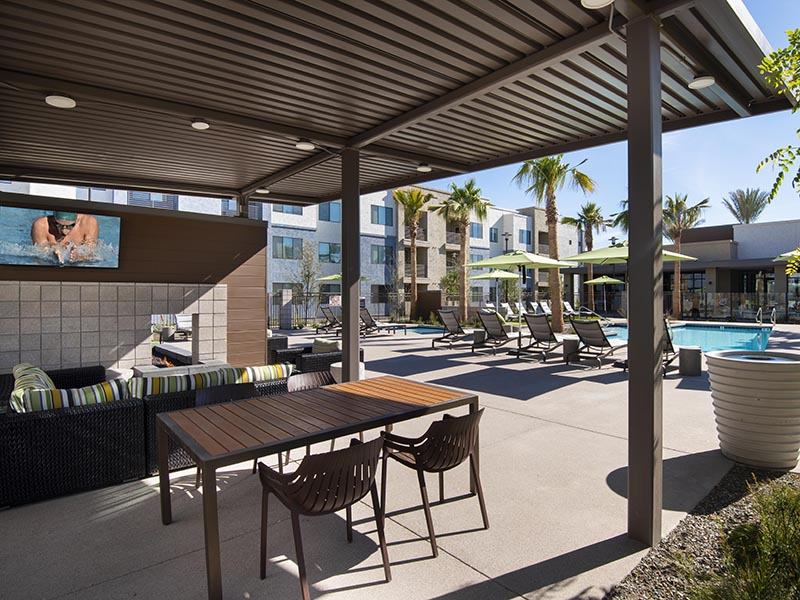 Pool Side Lounge | Parc at South Mountain