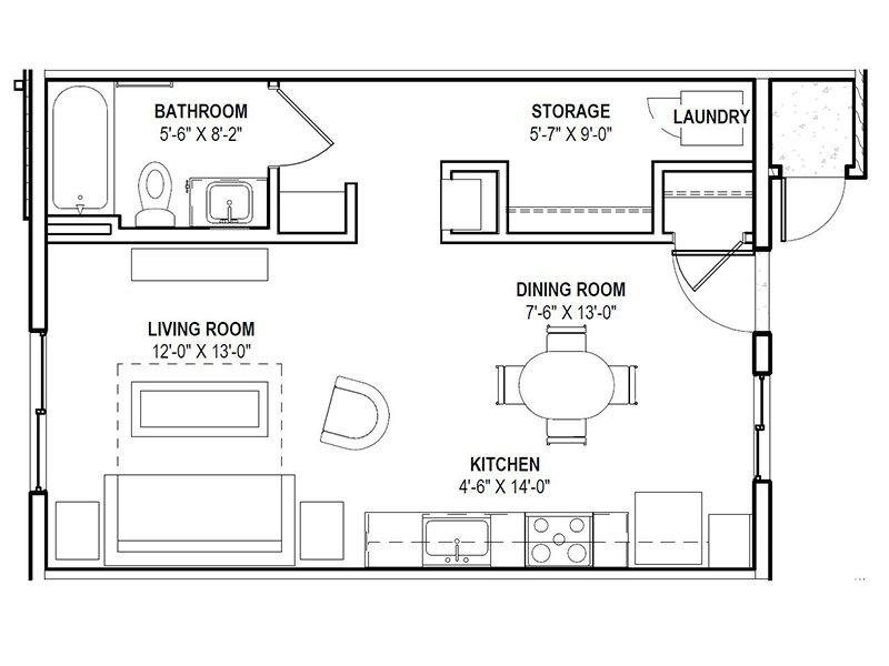 Our Studio is a Studio Bedroom, 1 Bathroom Apartment
