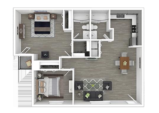 Floorplan for Mountain View Casitas Apartments