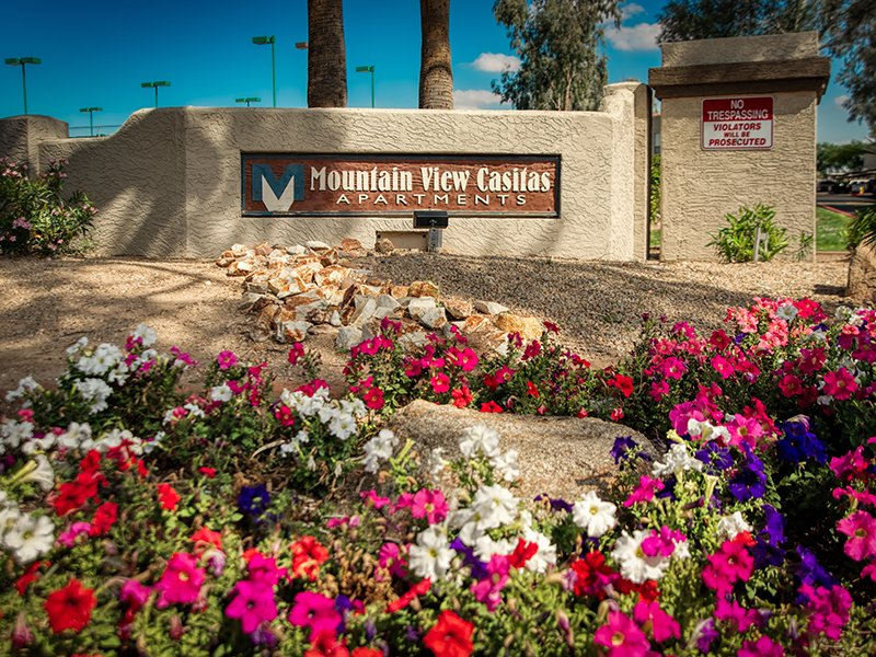 Welcome Sign | Mountain View Casitas in Phoenix, AZ