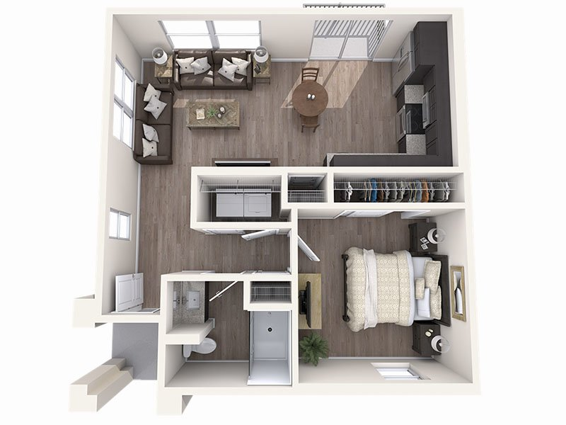 Our A is a 1 Bedroom, 1 Bathroom Apartment