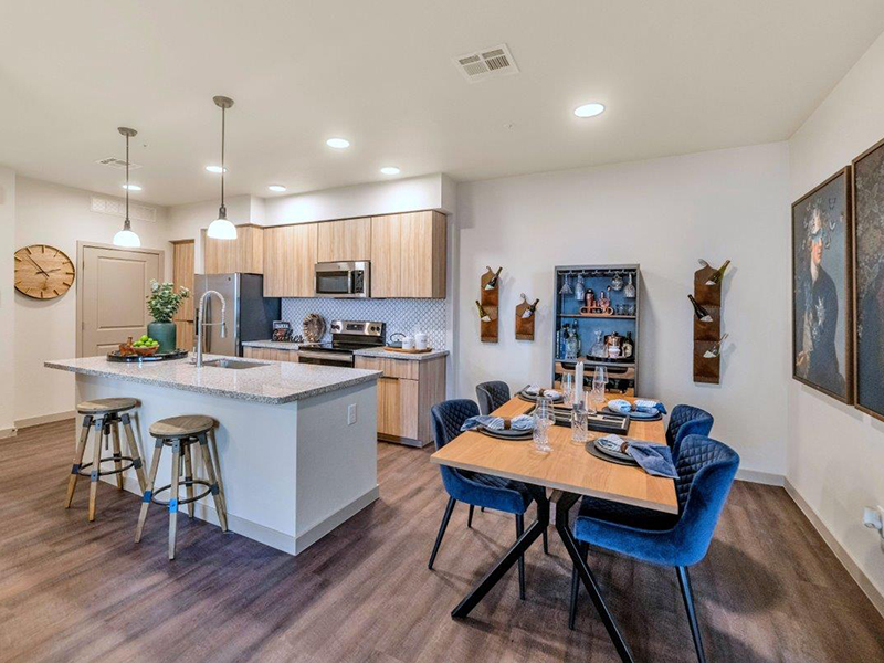 Dining Room and Kitchen | Grayson Place Apartments in Goodyear, AZ