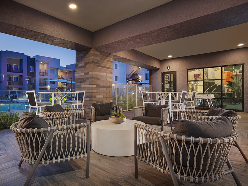 Outdoor Seating Area | Grayson Place Apartments in Goodyear, AZ