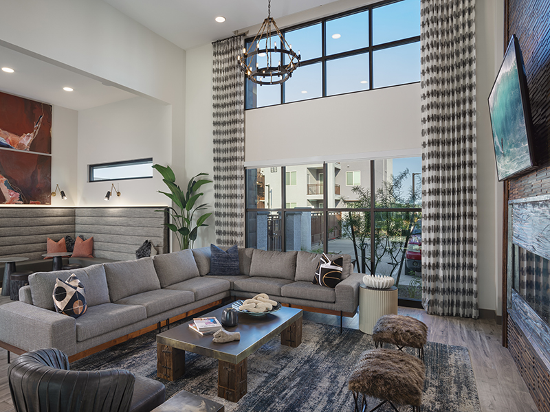 Clubhouse Lounge Area | Grayson Place Apartments in Goodyear, AZ
