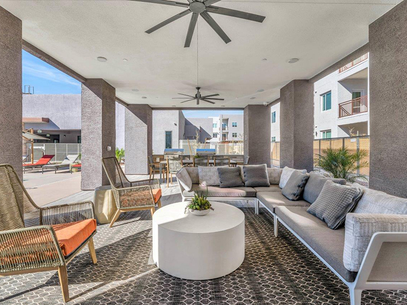 Outdoor Lounge | Grayson Place Apartments in Goodyear, AZ
