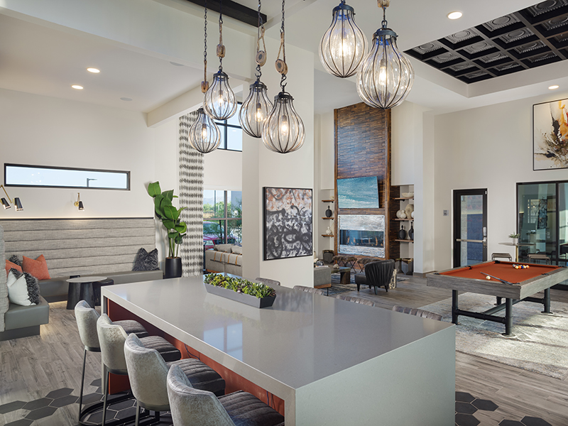 Clubhouse Seating | Grayson Place Apartments in Goodyear, AZ