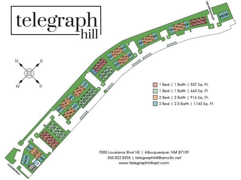 Site Map | Telegraph Hill Apartments