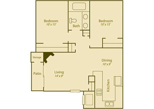 Floorplan for Candlelight Square Apartments