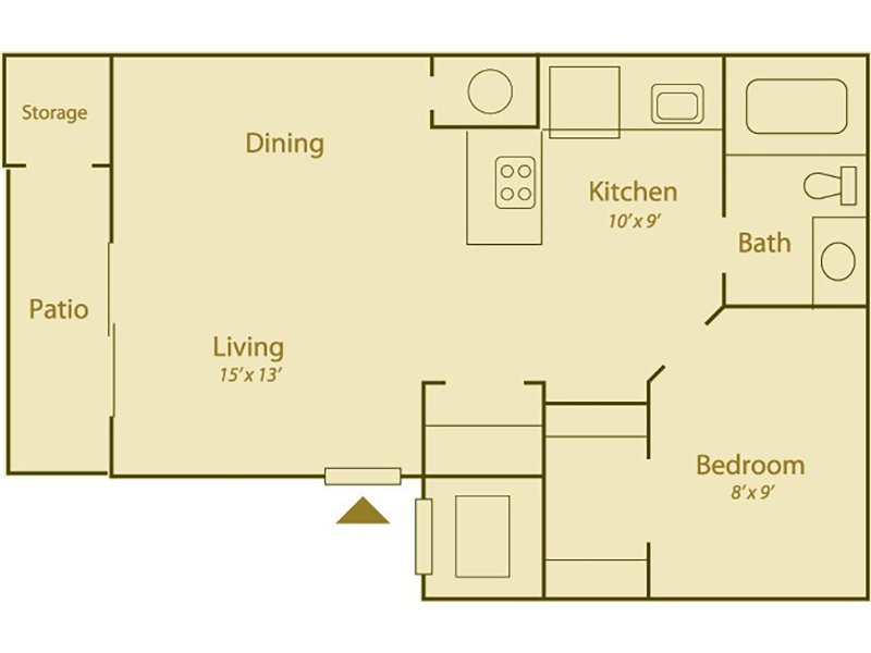 Our Silver Sage is a 1 Bedroom, 1 Bathroom Apartment